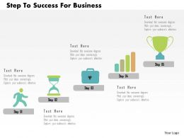 Step To Success For Business Flat Powerpoint Design