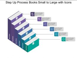 Step Up Process Books Small To Large With Icons