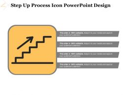 Step Up Process Icon Powerpoint Design