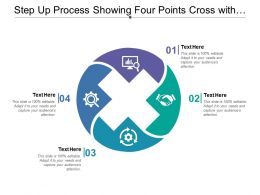 Step Up Process Showing Four Points Cross With Text Holders