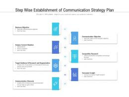 Step Wise Establishment Of Communication Strategy Plan