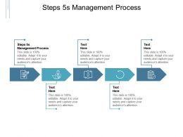 Steps 5s Management Process Ppt Powerpoint Presentation Gallery Outline Cpb