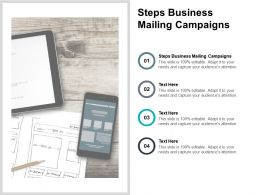 Steps Business Mailing Campaigns Ppt Powerpoint Presentation Styles Slideshow Cpb