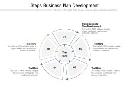 Steps Business Plan Development Ppt Powerpoint Presentation Infographic Cpb