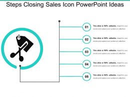Steps Closing Sales Icon Powerpoint Ideas