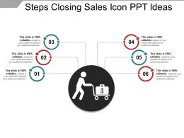 Steps Closing Sales Icon Ppt Ideas