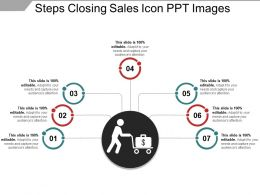 Steps Closing Sales Icon Ppt Images