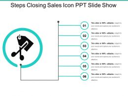 Steps Closing Sales Icon Ppt Slide Show