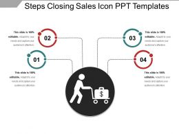 Steps Closing Sales Icon Ppt Templates