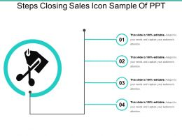 Steps Closing Sales Icon Sample Of Ppt