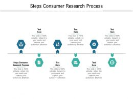 Steps Consumer Research Process Ppt Powerpoint Presentation Ideas Example File Cpb
