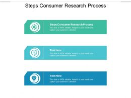 Steps Consumer Research Process Ppt Powerpoint Presentation Show Backgrounds Cpb