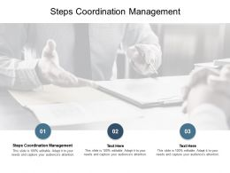 Steps Coordination Management Ppt Powerpoint Presentation Ideas Images Cpb