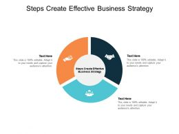Steps Create Effective Business Strategy Ppt Powerpoint Presentation Icon Cpb