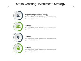 Steps Creating Investment Strategy Ppt Powerpoint Presentation Outline Pictures Cpb