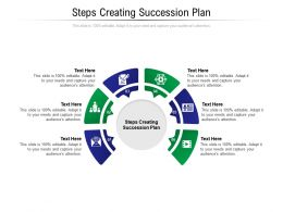 Steps Creating Succession Plan Ppt Powerpoint Presentation Introduction Cpb