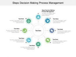 Steps Decision Making Process Management Ppt Powerpoint Presentation Infographic Template Graphics Example Cpb