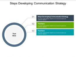 Steps Developing Communication Strategy Ppt Powerpoint Presentation Professional Images Cpb