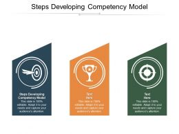 Steps Developing Competency Model Ppt Powerpoint Presentation File Graphic Images Cpb