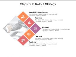 Steps DLP Rollout Strategy Ppt Powerpoint Presentation Backgrounds Cpb