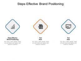 Steps Effective Brand Positioning Ppt Powerpoint Presentation Diagram Cpb