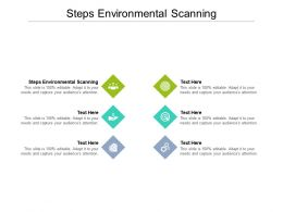 Steps Environmental Scanning Ppt Powerpoint Presentation Inspiration Gridlines Cpb
