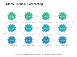 Steps Financial Forecasting Ppt Powerpoint Presentation Model Background Cpb