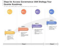 Steps For Access Governance IAM Strategy Four Quarter Roadmap