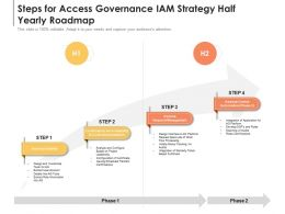 Steps For Access Governance IAM Strategy Half Yearly Roadmap