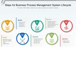 Steps For Business Process Management System Lifecycle