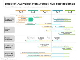 Steps For IAM Project Plan Strategy Five Year Roadmap