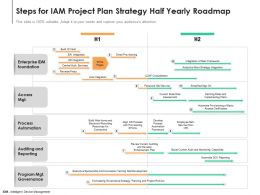 Steps For IAM Project Plan Strategy Half Yearly Roadmap