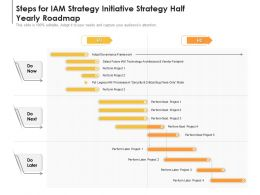 Steps For IAM Strategy Initiative Strategy Half Yearly Roadmap