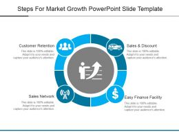 Steps For Market Growth Powerpoint Slide Template