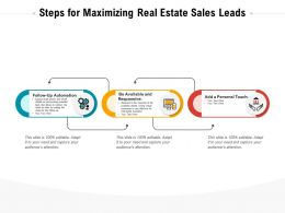 Steps For Maximizing Real Estate Sales Leads