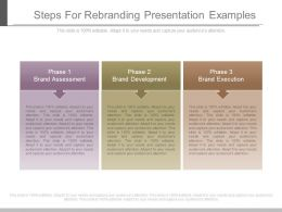 Steps For Rebranding Presentation Examples