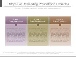 Steps For Rebranding Presentation Examples