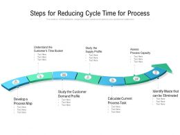 Steps For Reducing Cycle Time For Process