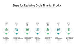 Steps For Reducing Cycle Time For Product