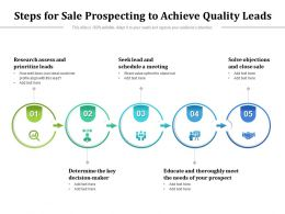 Steps For Sale Prospecting To Achieve Quality Leads