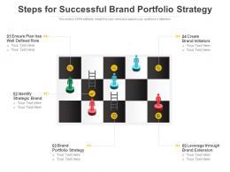 Steps For Successful Brand Portfolio Strategy