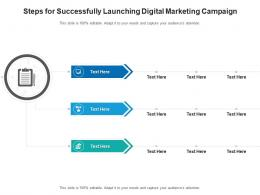 Steps For Successfully Launching Digital Marketing Campaign Infographic Template