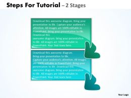 Steps For Tutorial 2 Stages 16