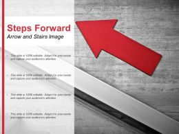 Steps Forward Arrow And Stairs Image