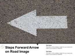 Steps Forward Arrow On Road Image