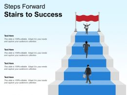Steps Forward Stairs To Success