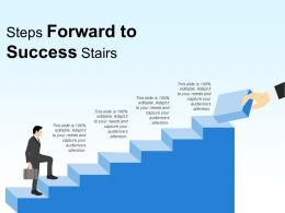 Steps Forward To Success Stairs