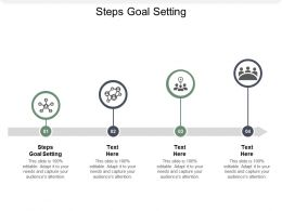 Steps Goal Setting Ppt Powerpoint Presentation Pictures Guidelines Cpb