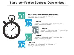 Steps Identification Business Opportunities Ppt Powerpoint Presentation Infographics Cpb