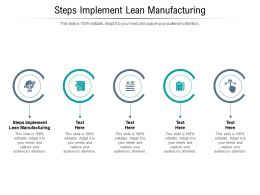 Steps Implement Lean Manufacturing Ppt Powerpoint Presentation Inspiration Themes Cpb
